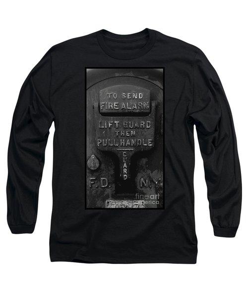 Fdny - Alarm Long Sleeve T-Shirt by James Aiken
