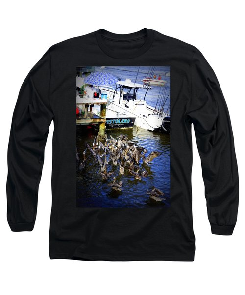 Long Sleeve T-Shirt featuring the photograph Feeding Frenzy by Laurie Perry