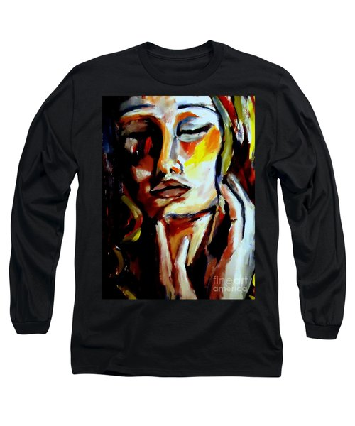 Long Sleeve T-Shirt featuring the painting Feel by Helena Wierzbicki