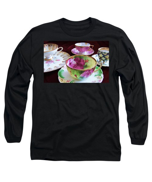 Feminine High Society Ladies Tea Party Long Sleeve T-Shirt