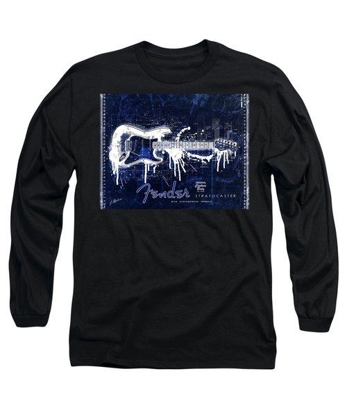 Fender Blueprint Washout Long Sleeve T-Shirt by Gary Bodnar