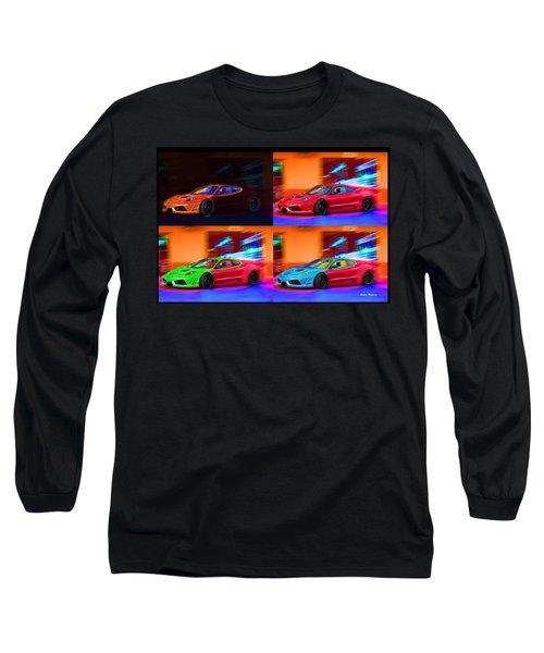 Long Sleeve T-Shirt featuring the photograph Ferrari Collage by Gunter Nezhoda