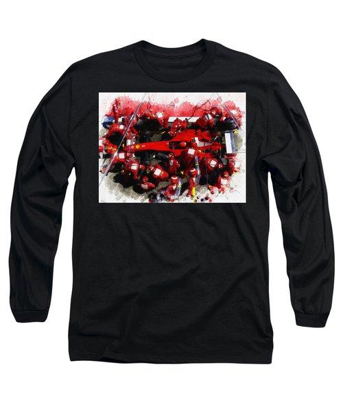 Ferrari Make Changes In Pit Lane Long Sleeve T-Shirt