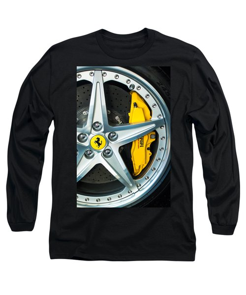 Ferrari Wheel 3 Long Sleeve T-Shirt by Jill Reger
