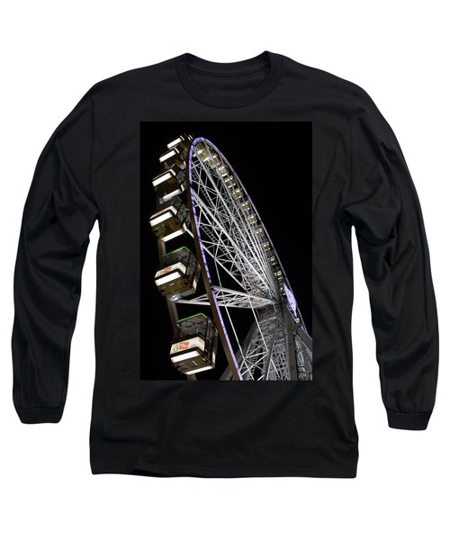 Ferris Wheel At Night Long Sleeve T-Shirt