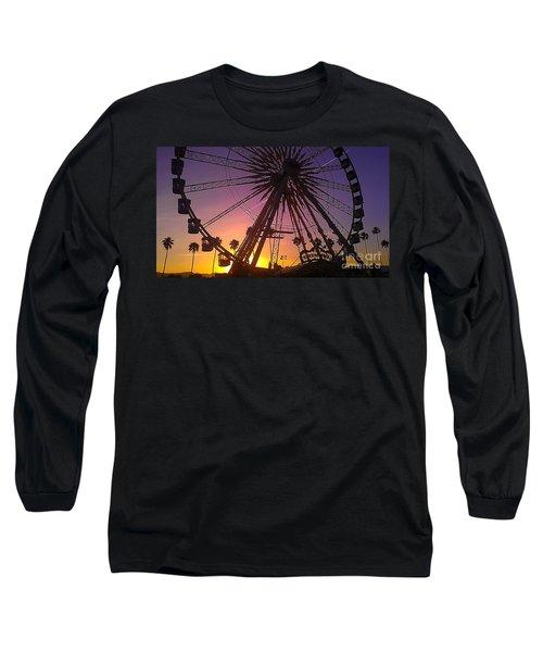 Ferris Wheel Long Sleeve T-Shirt by Chris Tarpening
