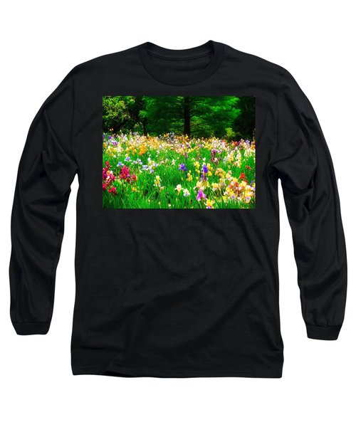 Field Of Iris Long Sleeve T-Shirt