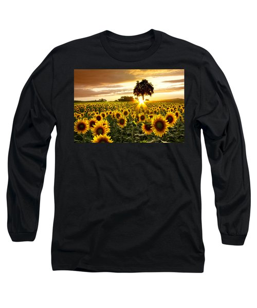 Fields Of Gold Long Sleeve T-Shirt by Debra and Dave Vanderlaan