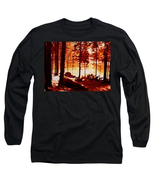 Fiery Red Landscape Long Sleeve T-Shirt