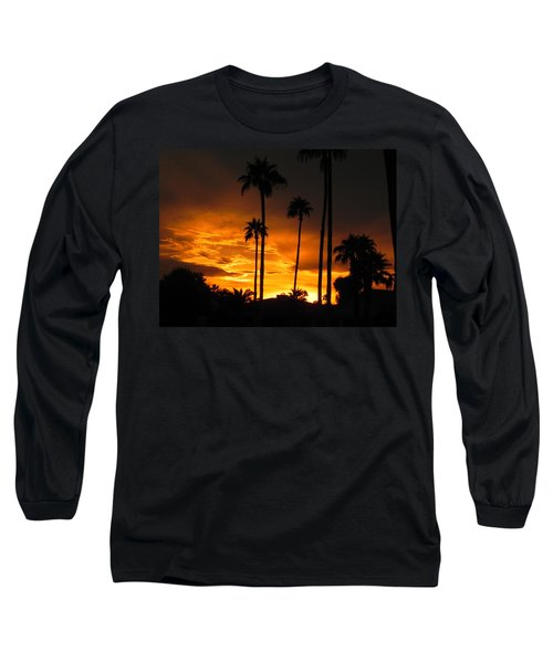 Long Sleeve T-Shirt featuring the photograph Fiery Sunset by Deb Halloran