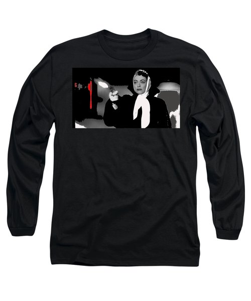 Film Noir Joan Crawford Jack Palance Sudden Fear 1952 Rko Publicity Photo Color Added 2012 Long Sleeve T-Shirt