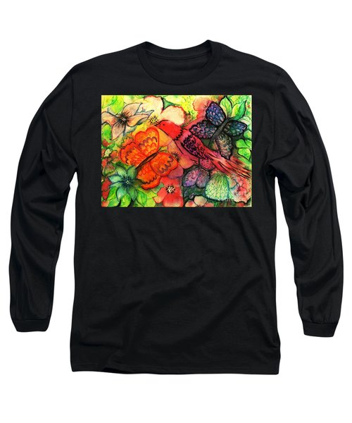 Long Sleeve T-Shirt featuring the painting Finding Sanctuary by Hazel Holland