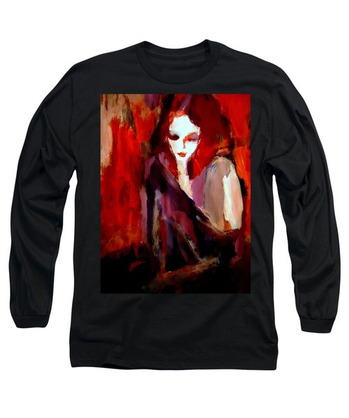 Long Sleeve T-Shirt featuring the painting Finesse by Helena Wierzbicki