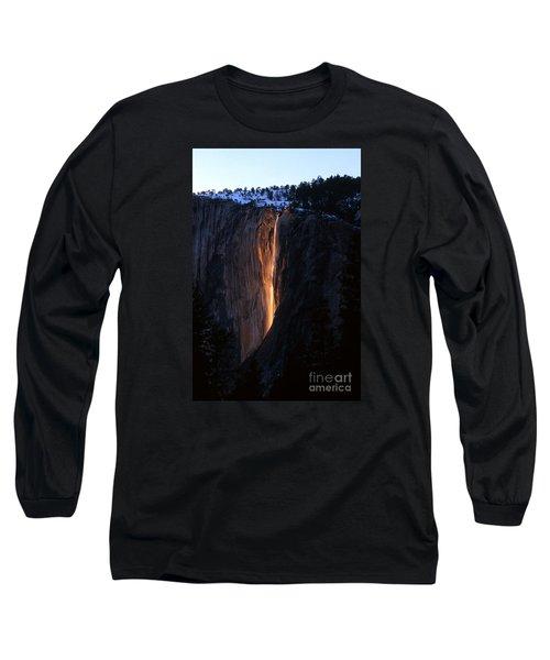 Fire Falls In Yosemite  Long Sleeve T-Shirt