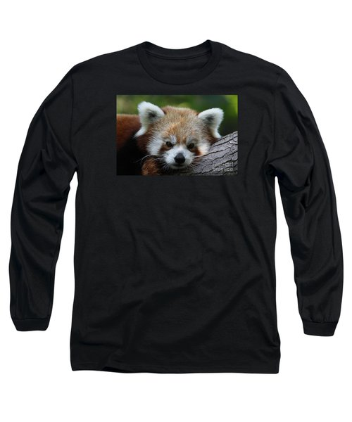 Long Sleeve T-Shirt featuring the photograph Fire Fox by Judy Whitton