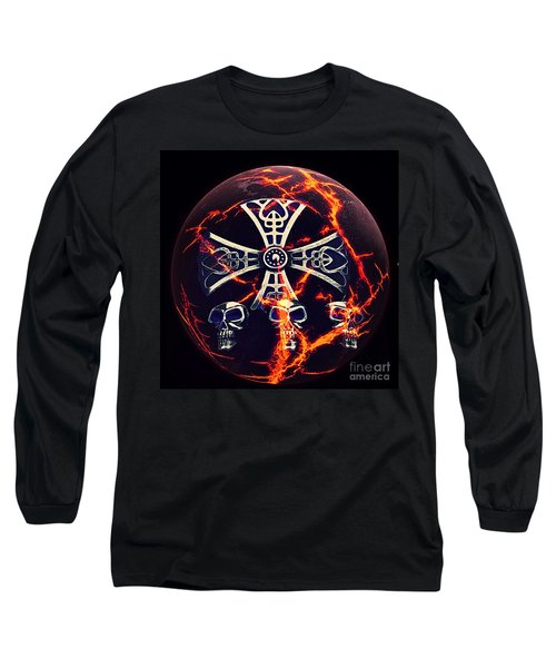 Fire Skulls Long Sleeve T-Shirt