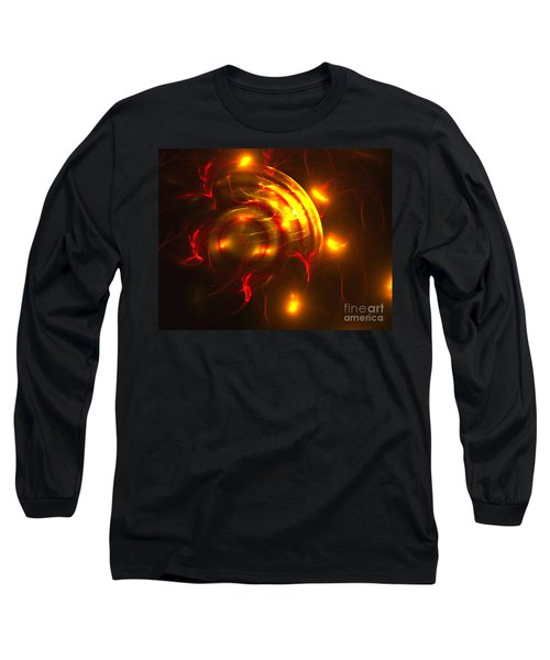 Long Sleeve T-Shirt featuring the digital art Fire Storm by Victoria Harrington