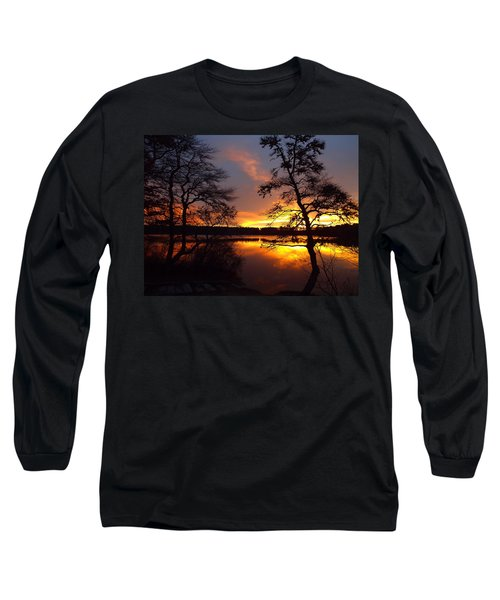 Long Sleeve T-Shirt featuring the photograph Sunrise Fire by Dianne Cowen