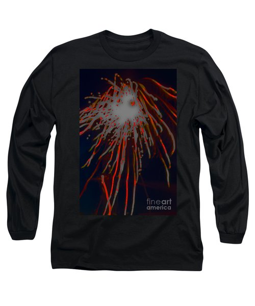 Long Sleeve T-Shirt featuring the photograph Fire Works by Mae Wertz