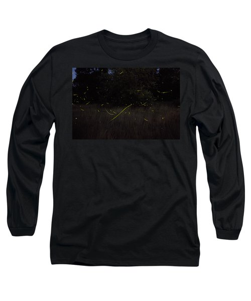Firefly Traces On A Summer Night Long Sleeve T-Shirt