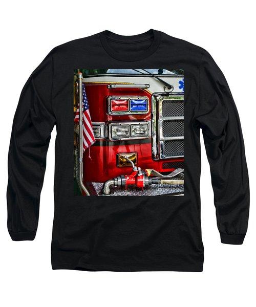 Fireman - Fire Engine Long Sleeve T-Shirt