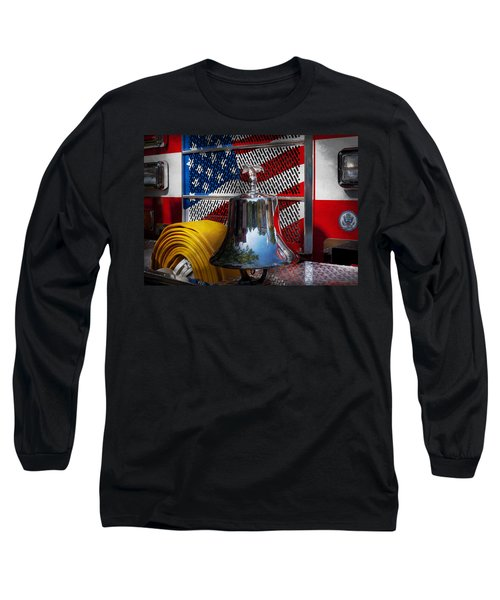 Fireman - Red Hot  Long Sleeve T-Shirt by Mike Savad