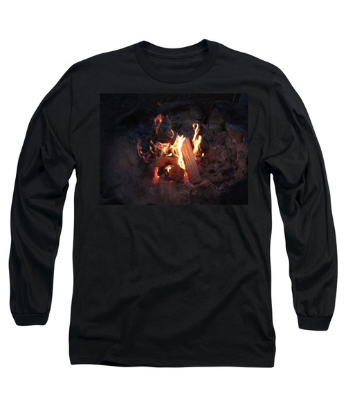 Long Sleeve T-Shirt featuring the photograph Fireside Seat by Michael Porchik