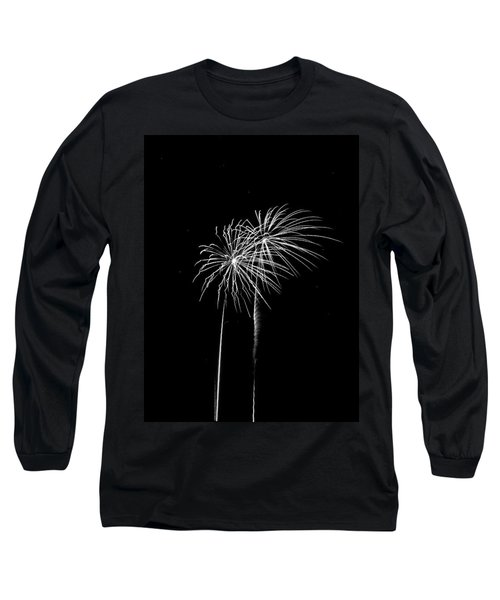 Firework Palm Trees Long Sleeve T-Shirt