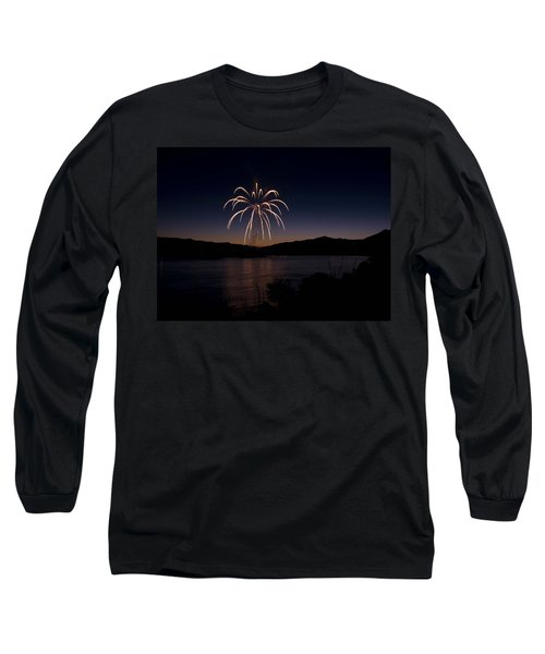 Long Sleeve T-Shirt featuring the photograph Fireworks 11 by Sonya Lang