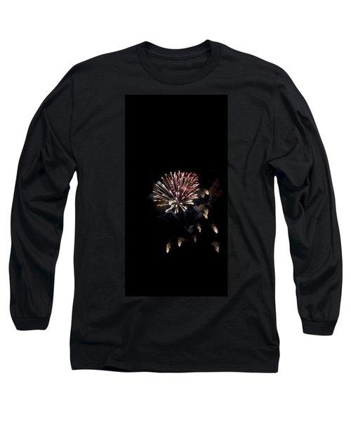 Fireworks At Night Long Sleeve T-Shirt