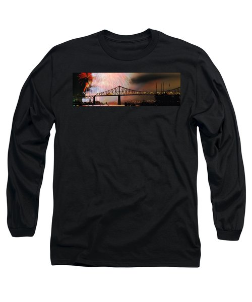Fireworks Over The Jacques Cartier Long Sleeve T-Shirt