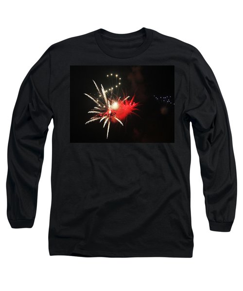 Long Sleeve T-Shirt featuring the photograph Fireworks by Rowana Ray