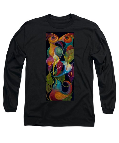 First Flight Triptych - Unframed Long Sleeve T-Shirt by Claudia Goodell