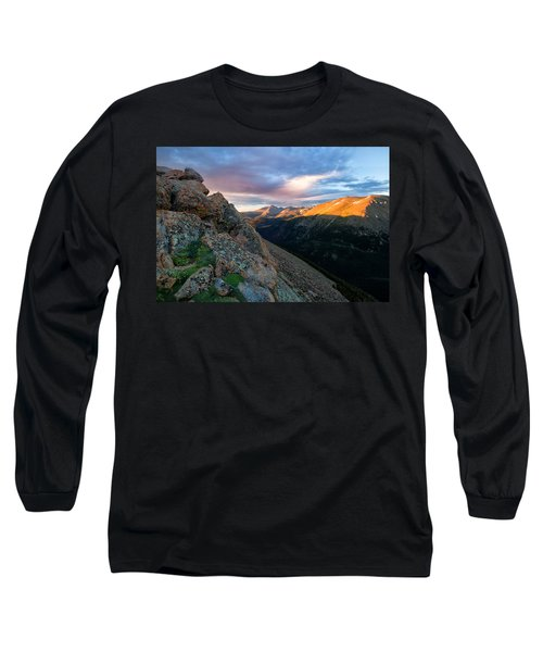First Light On The Mountain Long Sleeve T-Shirt by Ronda Kimbrow