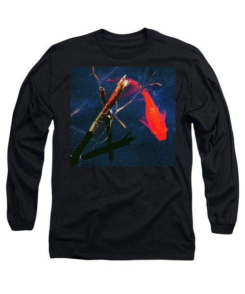 Long Sleeve T-Shirt featuring the photograph Fish Bubble by Faith Williams
