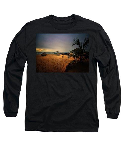Fish Or Cut Bait Long Sleeve T-Shirt by Robert McCubbin