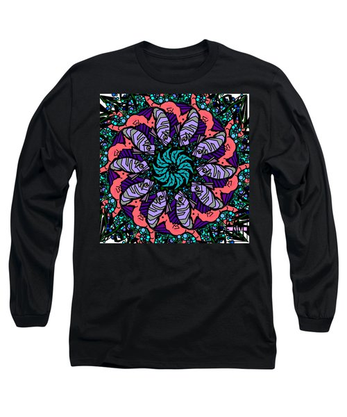 Long Sleeve T-Shirt featuring the digital art Fish / Seahorse by Elizabeth McTaggart