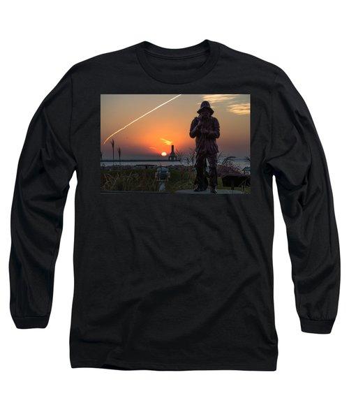 Fisherman Sunrise Long Sleeve T-Shirt