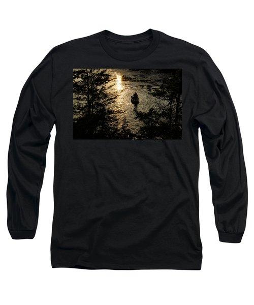 Fishing At Sunset - Thousand Islands Saint Lawrence River Long Sleeve T-Shirt