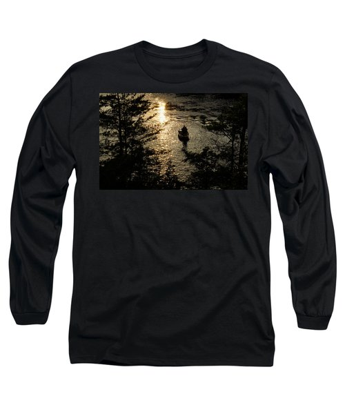 Fishing At Sunset - Thousand Islands Saint Lawrence River Long Sleeve T-Shirt