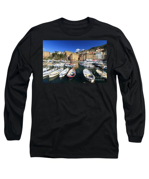 Long Sleeve T-Shirt featuring the photograph fishing boats in Camogli by Antonio Scarpi
