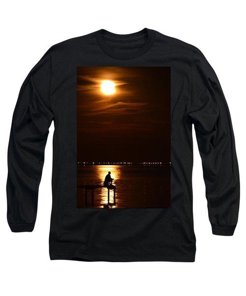 Fishing By Moonlight01 Long Sleeve T-Shirt