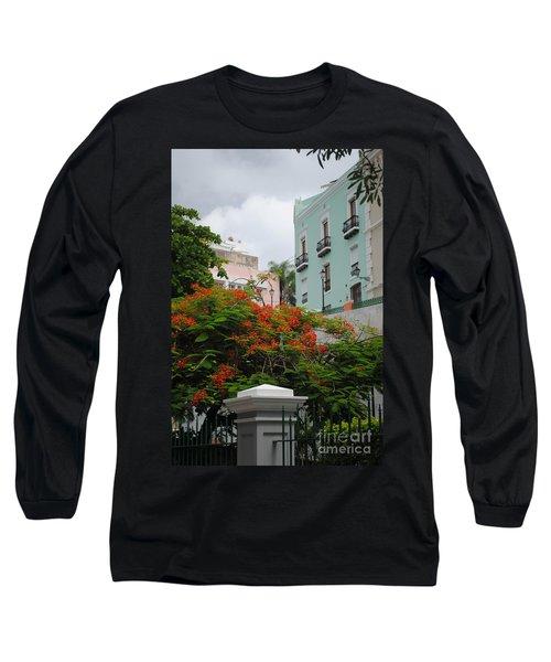 Flamboyan In Park Long Sleeve T-Shirt