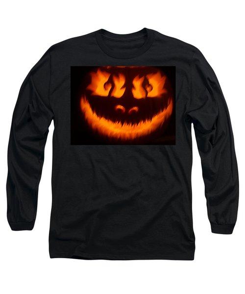 Flame Pumpkin Long Sleeve T-Shirt