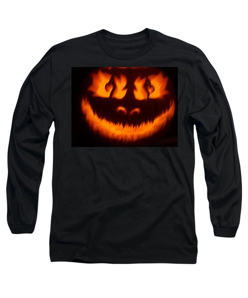 Flame Pumpkin Long Sleeve T-Shirt by Shawn Dall