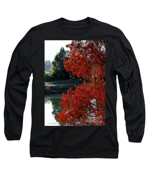 Flame Red Tree Long Sleeve T-Shirt