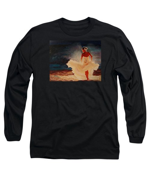 Flamenco Allure Long Sleeve T-Shirt by Janet McDonald