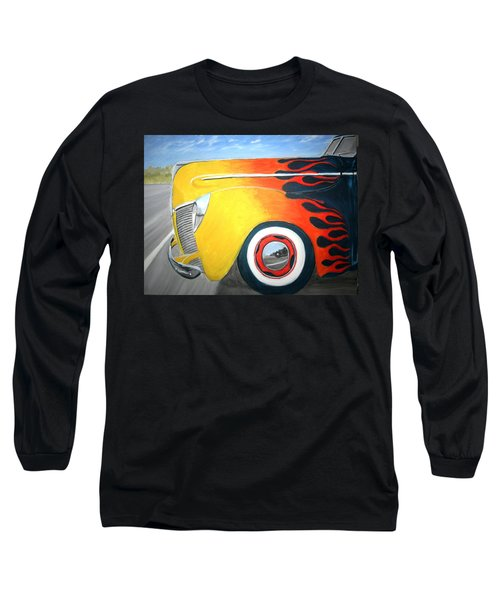 Long Sleeve T-Shirt featuring the painting Flames by Stacy C Bottoms
