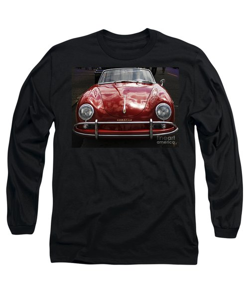 Long Sleeve T-Shirt featuring the photograph Flaming Red Porsche by Victoria Harrington