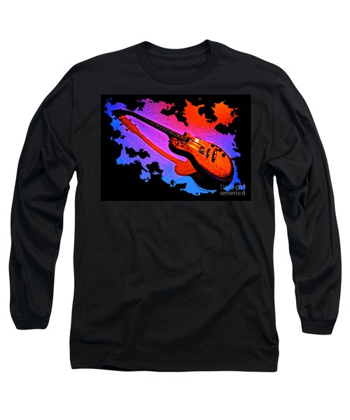 Flaming Rock Long Sleeve T-Shirt by Gem S Visionary